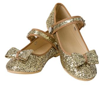 12638a38fb39 Gold Glitter Shoes - Everything Princesses