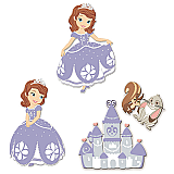 Sofia the First Foam Wall Decals
