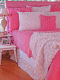 Ruffled Chiffon Throw
