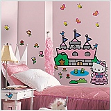 Hello Kitty Princess Castle Wall Decals