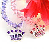 Beaded Crown Stretchy Bracelet