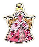 DYO Wooden Princess Magnets - Quantity 2