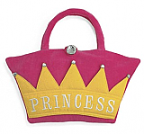 Princess Crown Fuzzy Purse