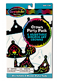 Scratch Art Crown Party Pack of 6