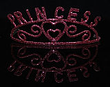 Hot Pink Glitter Princess Tiara