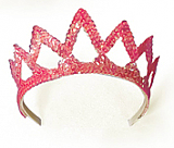 Pink Star Quality 7-Point Sequin Tiara