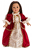 Red Winter Beauty Doll Dress