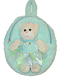 Blue Princess Bear Backpack
